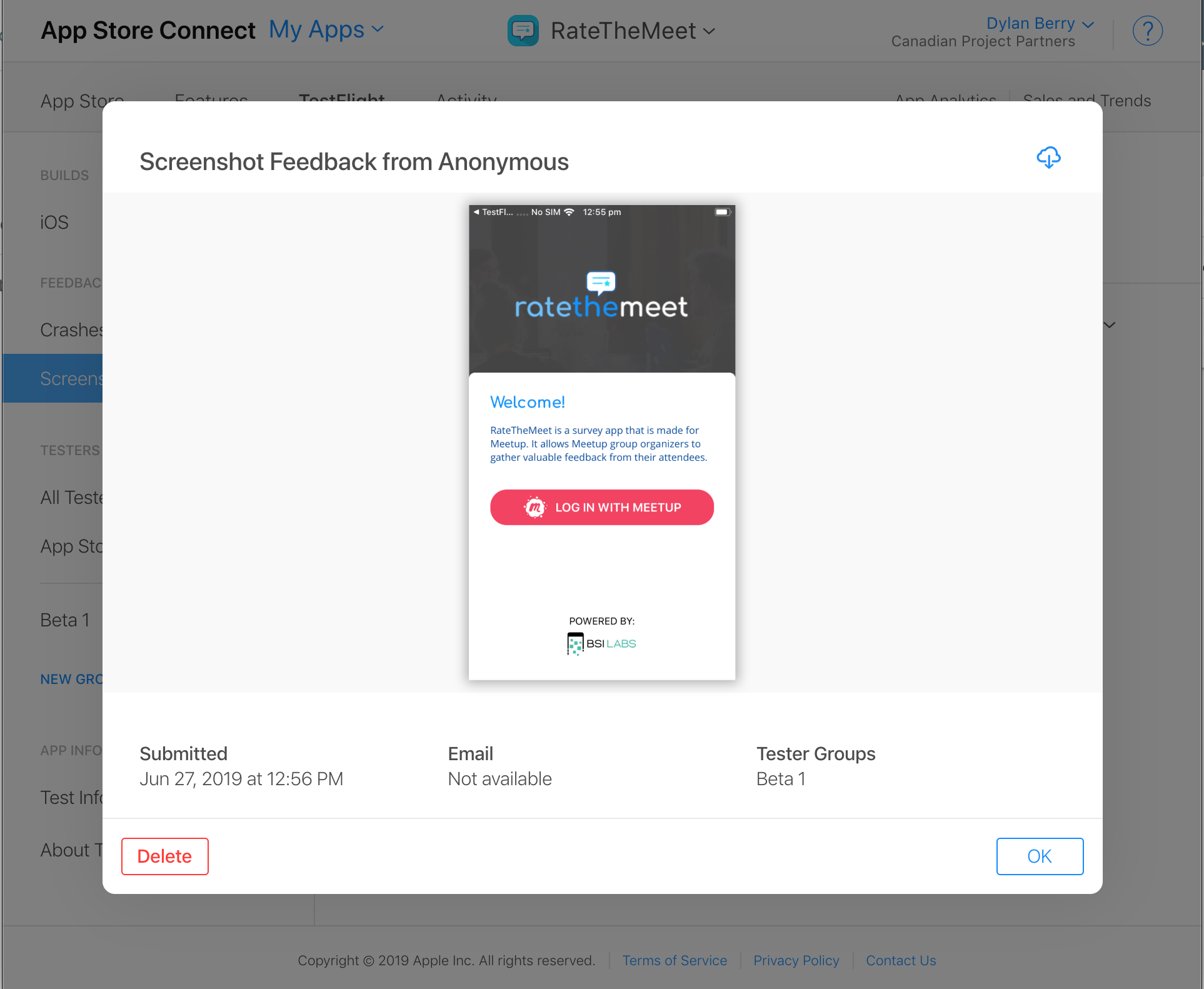iOS 13 TestFlight Screenshot Feedback – Genetically